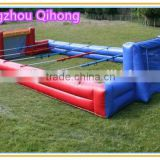 commercial grade inflatable foosball game field, inflatable human foosball sports arena for sale