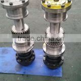AISI 4140 Alloy Steel forged gear output shaft Gear output axis Gear pinion Gear tailshaft