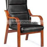 Middle east new design wood and black PU leather executive/ waiting chair for sale(FOHF-63#)