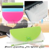 Eco-friendly PP Plastic Expanding File Wallet Case Expandable Document Bag