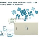 Portable USB wifi external hard disk for iPhone & android device external disk, file transfering