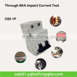 b c d curve 2 pole 6ka mcb plug-in type circuit breaker