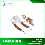 Deluxe 3 Piece BBQ Tool Set with Wooden Handles