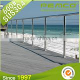 Nature design high quality hospital plexiglass stainless steel removable stair handrail