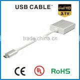 HDMI female to USB 2.0/3.0/3.1 Type C connector Adapter cable