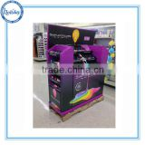 Holiday USA SINFUL COLORS nail polish advertising promotion corrugated cardboard pallet display
