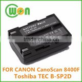 7.4V 1600mAh battery for Canon SP-2D CanoScan 8400F Scanner TEC B-SP2D Portable Bluetooth Printer SP-2D B-SP2D-BT
