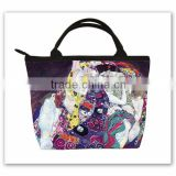 Klimt oil painting handbag digital printing microfiber tote bag sublimation printing