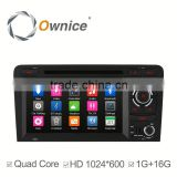 "7"" Ownice android 4.4 quad core Car Radio for Audi A3 S3 support bluetooth handsfree"