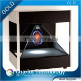 Hot! 2016 Chariot 3d hologram display box, display equipment, showcase, pyramid on sale.