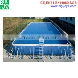 Adult size fiberglass plastic frame swimming pool wholesale