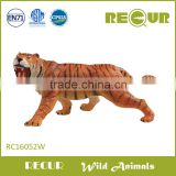 Hot Sale Life size Giant realistic stuffed tiger toy wild animal soft plastic simulated tiger