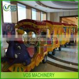 Battery control sightseeing amusement rides trackless train, kids funny movable electric train rides for sale