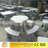 China Natural Outdoor Stone Tables And Benches