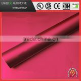 LKG Matte Metallic vinyl wrap promotional 1.52*20M matte satin chrome rose red with air bubble free car wrapping