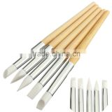 Bona 5pcs/set Silicone Carving Paint Brush Nail Art Premium