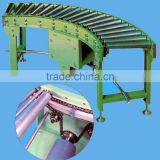 Japanese Standard single chain driving curved roller conveyor KTR-S