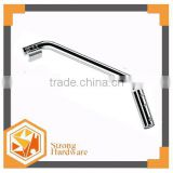 Stainless steel glass door knighthead ,Bathroom bend knighthead, sliding glass shower door handle with Bathroom pull bar