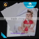Yesion High Quality A4 Self-adhesive/Sticker High Glossy Sticker Inkjet Photo Paper 135gsm