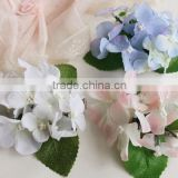 Artificial Silk Flower Handmade Fabric Flowers with Leaves Hair Clip