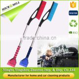 Heavy duty snow brush with foam grip, ice removal cleaning tool, long reach car snow scrapers