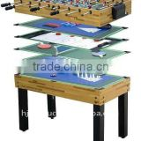 New style 4 ft wooden 12 in 1game table multi-activity combination kids game table full accessories