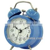 Mini Metal Twin Bell Alarm Clocks/High quality table clocks for office or home decorative