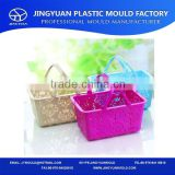 China Taizhou OEM Supplier Multi-color Plastic Handle Supermarket Shopping Basket Mould/Injection Mold Manufacturing