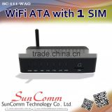 SC-111-WAG Wifi ATA with 1SIM, 1FXO, 1FXS, Wifi hotspot, GSM, multi-functional gateway, WiFi AP