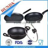 4pcs Aluminum cookware set with inner marble coating