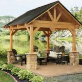 modern design garden wood pavilion cheap wooden gazebo for sale