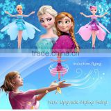 Upgrade Induction Flying Elsa Fairy Toys Remote ControUpgrade Induction Flying Elsl RC Flying Princess Helicopter toys for girls