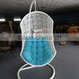 oval hanging egg chair/hanging chair white/hanging egg swing chair