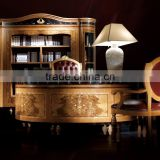 High End Luxury European Style Office Furniture Set for Villa Study Room - Classic Handmade Italian Style Office Desk BF11-02244