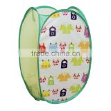 Green Modern folding and collapsible laundry basket , pop up hamper, hamper baskets wholesale