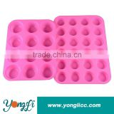 Moulds Cake Tools Type Non-Stick Silicone Cake Mold Rectangular 12 Cup Muffin Pan