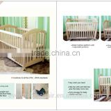 popular hot sell New Zealand pine solid wood luxury baby bed baby crib