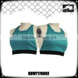 Women's activewear Yoga + running strappy print fashionable sports bra