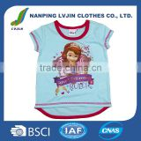 Summer Tees Cartoon Clothing Baby Girls Princess T-shirt Kids Cotton t-shirts Children's Printed t shirts