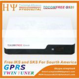 TOCOMFREE G928 digital hd update satellite decoders tocomfree G928 for chile and brazil better than azfox g3s, azfox gs