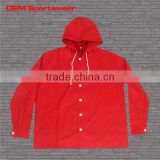Allover red sublimated printing button up hoodie