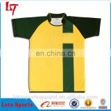Custom sublimated chad ochocinco rugby jersey yellow shirts