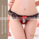 2016 new design big red lace quick dry cute girls mini panty