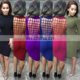 New fashion sexy unique fashion back hollow out hot sale bodycon bandage dress
