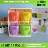 2015 new colorful apple shape spice rack set 4pcs