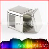 square window tin box