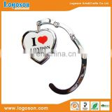 Best Selling London Souvenir Custom Metal Epoxy Logo Purse Bag Hangers