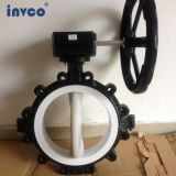 INVCO DN40-DN400 lug type butterfly valve with handle ,butterfly valve for oil and gas