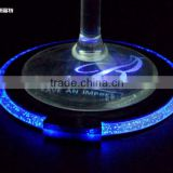 bar use led plastic drink coaster for wholesale