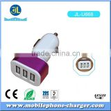 wholesale in Electronic market 3 ports 12V/24V 5V 2.1A /1A usb car charger manufacturers with CE FCC Rohs